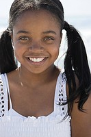 African american girl with pigtails (thumbnail)