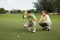 Two golfer playing golf in a golf course, Biltmore Golf Course, Coral Gables, Florida, USA