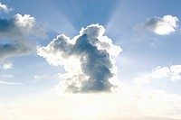 Clouds and sunbeam in sky