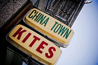 Close_up of signboards, Chinatown, San Francisco, California, USA