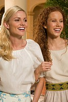 Close_up of two women smiling, Biltmore Hotel, Coral Gables, Florida, USA