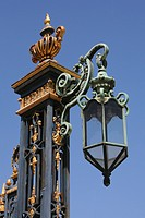 Low angle view of a lamppost, City Hall, San Francisco, California, USA