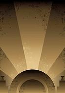 Art Deco Futurist style background design