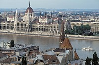 The river Danube. Budapest, HUNGARY