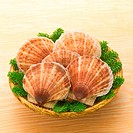 Scallops in a basket