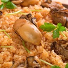 Rice and shellfish dish