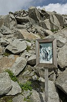 glacier remains, furka pass, switzerland