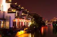Asia, China, Jiangsu Province, Nan Jing, Qinhuai River, Confucius Temple