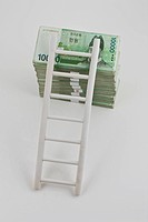 korean stock money with ladder