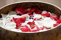 Petals in a bowl