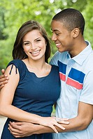 A young mixed race couple
