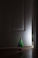 Christmas tree in doorway