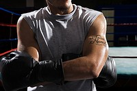 Boxer in gym