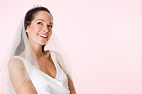 A smiling bride