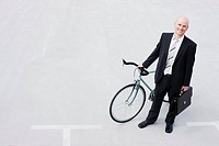 business man with bycicle