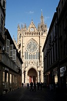 The Gothic Cathedrale St Etienne in Metz in the Lorraine region of France