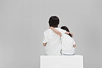 Back View of Girl and boy