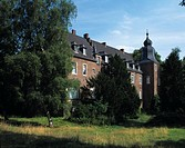 Elbbroich manor house in Duesseldorf_Holthausen, North Rhine_Westphalia, Germany, Europe
