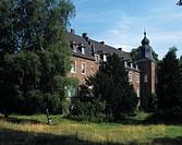 Elbbroich manor house in Duesseldorf_Holthausen, North Rhine_Westphalia, Germany, Europe