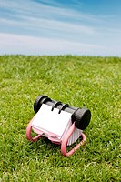 close_up of memo on grass