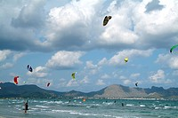 Kite surfing, Majorca, Spain