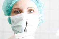 female doctor in the operating room, portrait
