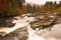 Falls of Dochart Killin Scotland Autumn