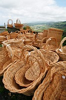 Wicker baskets  Azores islands handicraft, made in Agua de Pau, Sao Miguel island
