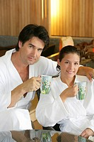 couple relaxing at wellness hotel