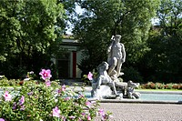 Germany Bavaria Munich The Alter botanical garden with Neptun statue