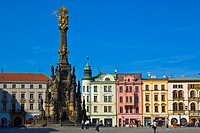 Holy Trinity Column at Horni namesti square in Olomouc Czech Republic Europe
