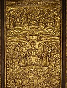 Davaravati bas relief showing episodes in the life of Buddha, now in Wat Suthat Bangkok, Thailand,. Southeast Asia, Asia