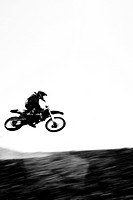 Motocross Rider in Midair I