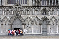 Facade of Nidaros Cathedral, Trondheim City, Nord_Trondelag Region, Norway, Scandinavia, Europe