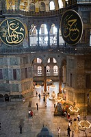 Interior of Haghia Sophia, UNESCO World Heritage Site, Istanbul, Turkey, Europe