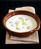 Chilled almond soup with garlic and grapes Spain