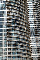 Residential buildings on Lake Ontario waterfront, Toronto, Ontario, Canada