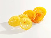 Candied orange and lemon slices
