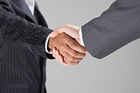 Businessmen Shaking Hands mid_section