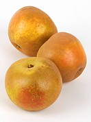 Three Russet apples
