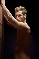 Nude man portrait