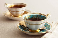 Elegant English Tea Cups and Saucers