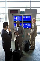Businessmen waiting in airport