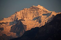 Switzerland, mountains, the Bernese Oberland, Jungfrau, sundown, snow, the Alps, ice, egg, glacier