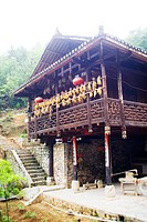 Tujia traditional architecture, Tusi City, Taiyanghexiang County, Enshi Tujia and Miao Autonomous Prefecture, Hubei, China