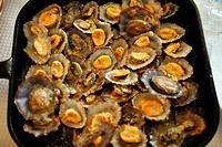 Grilled limpets are a delicacy at the Azores islands