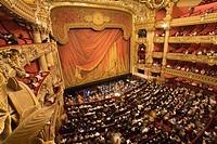 france, paris, opéra Garnier : loges et orchestre