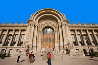 france,paris,petit palais : touristes
