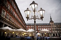 Cafe in Plaza Mayor, Madrid, Spain