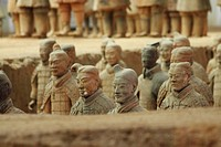 Excavations of the Terra Cotta Warriors in Xi'an China